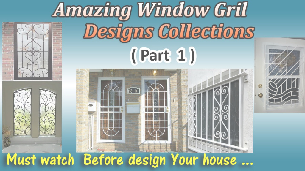 Epic Latest Window Grill Designs ( Part 1 ) - Youtube throughout Beautiful Latest Window Grill Design Photos