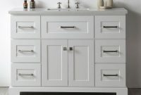 Epic Legion Quartz Top White 48-Inch Single Bathroom Vanity (Assembled within High Quality Bathroom Vanities Overstock