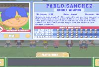 Epic Let's Play Backyard Baseball 2003 – Intro & Meet The Characters, Pt within Lovely Pablo Sanchez Backyard Baseball