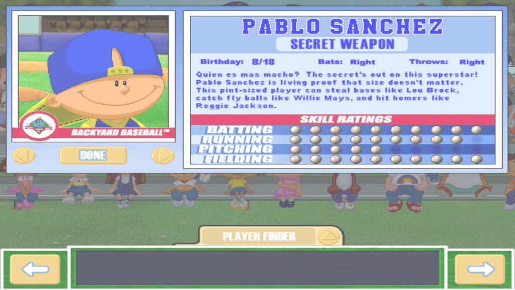 Epic Let's Play Backyard Baseball 2003 - Intro & Meet The Characters, Pt within Lovely Pablo Sanchez Backyard Baseball