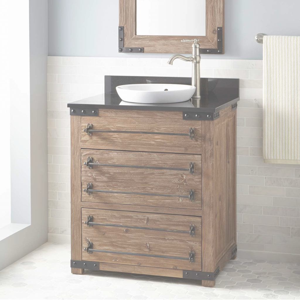 Epic Luxury Weathered Wood Bathroom Vanity (50 Photos) | Htsrec with Weathered Wood Bathroom Vanity