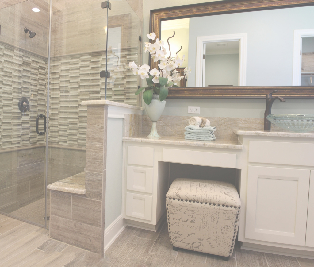 Epic Master Bath With White Cabinets And Vanity Seat Intended For in Beautiful Vanity Chair For Bathroom