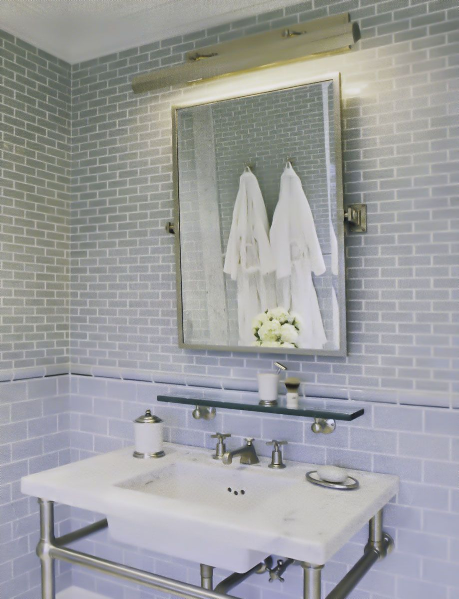 Epic Metropolitan Pivoting Mirror, Regency Picture Light, Yale Club Glass with regard to Set Pivot Mirrors For Bathroom