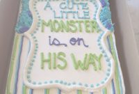 Epic Monsters Inc Baby Shower Cake From Sweet Matriarch Bakery within Monsters Inc Baby Shower Cake