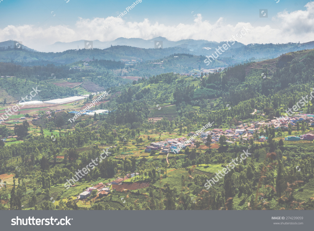 Epic Mountain City Landscape Clouds Ooty Tamil Stock Photo (Royalty Free within Landscape Meaning In Tamil