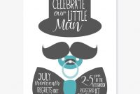 Epic Mustache Ba Shower Invitation Templates Which Can Used As Extra within Awesome Little Man Baby Shower Free Printables
