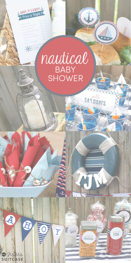 Epic Nautical Theme Baby Shower Ideas - My Sister's Suitcase with Nautical Theme Baby Shower Decorations