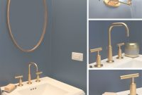 Epic Navy Blue And Gold Bathroom | Powder Room | Pinterest | Gold pertaining to Inspirational Antique Gold Bathroom Faucets