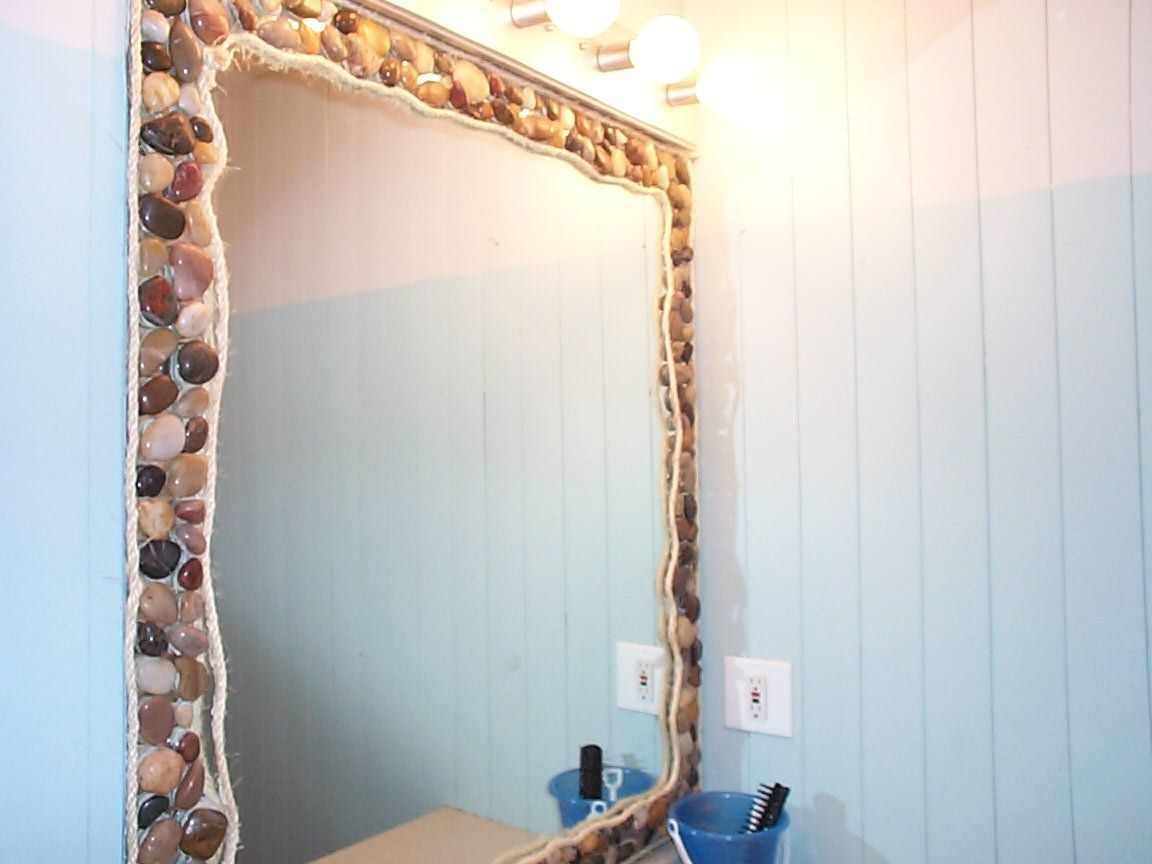 Epic Ocean Bathroom Mirror - Neat But I Think It's A Bit Much For My regarding Beach Themed Bathroom Mirrors