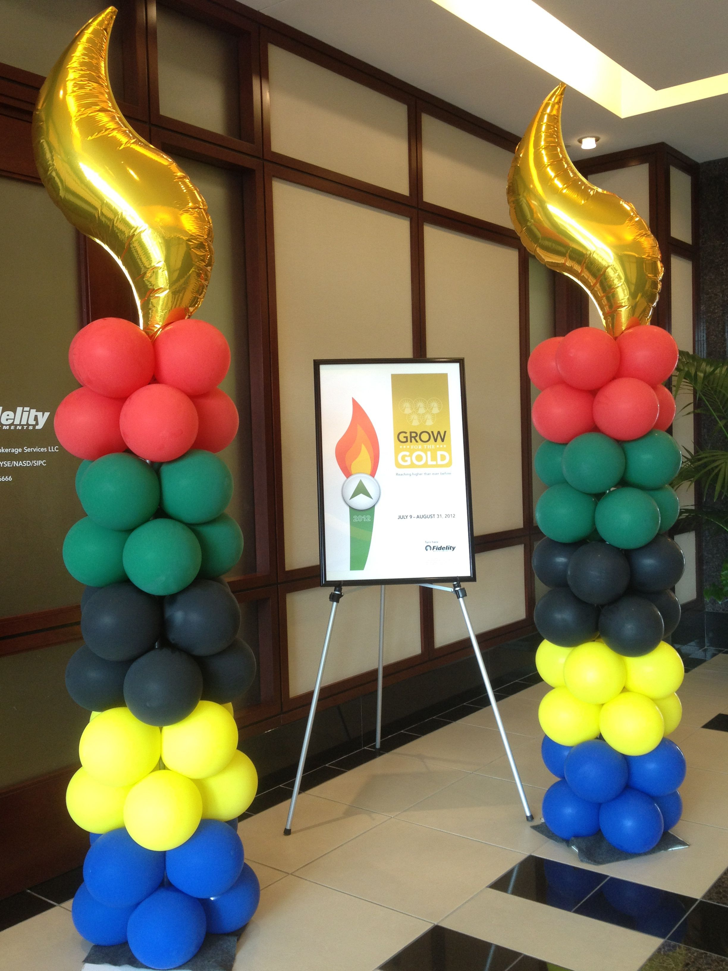 Epic Olympic Themed Balloon Columns. #olympic #balloon #column | Balloon intended for Fresh Olympic Themed Decorations