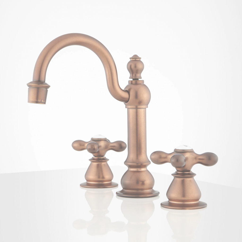 Epic Orford Widespread Bathroom Faucet - Antique Copper - Bathroom for New Copper Faucet Bathroom