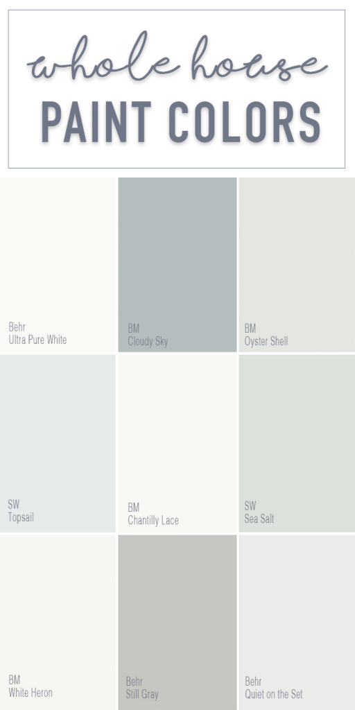 Epic Paint Colors For A Whole Home Color Palette - Calming Neutral Paint with Lovely Behr Paint Colors Gray
