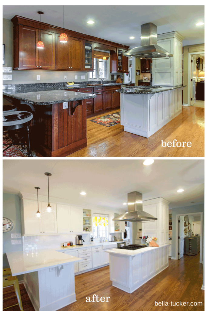 Epic Painted Cabinets Nashville Tn Before And After Photos within Painted Kitchen Cabinets Before And After
