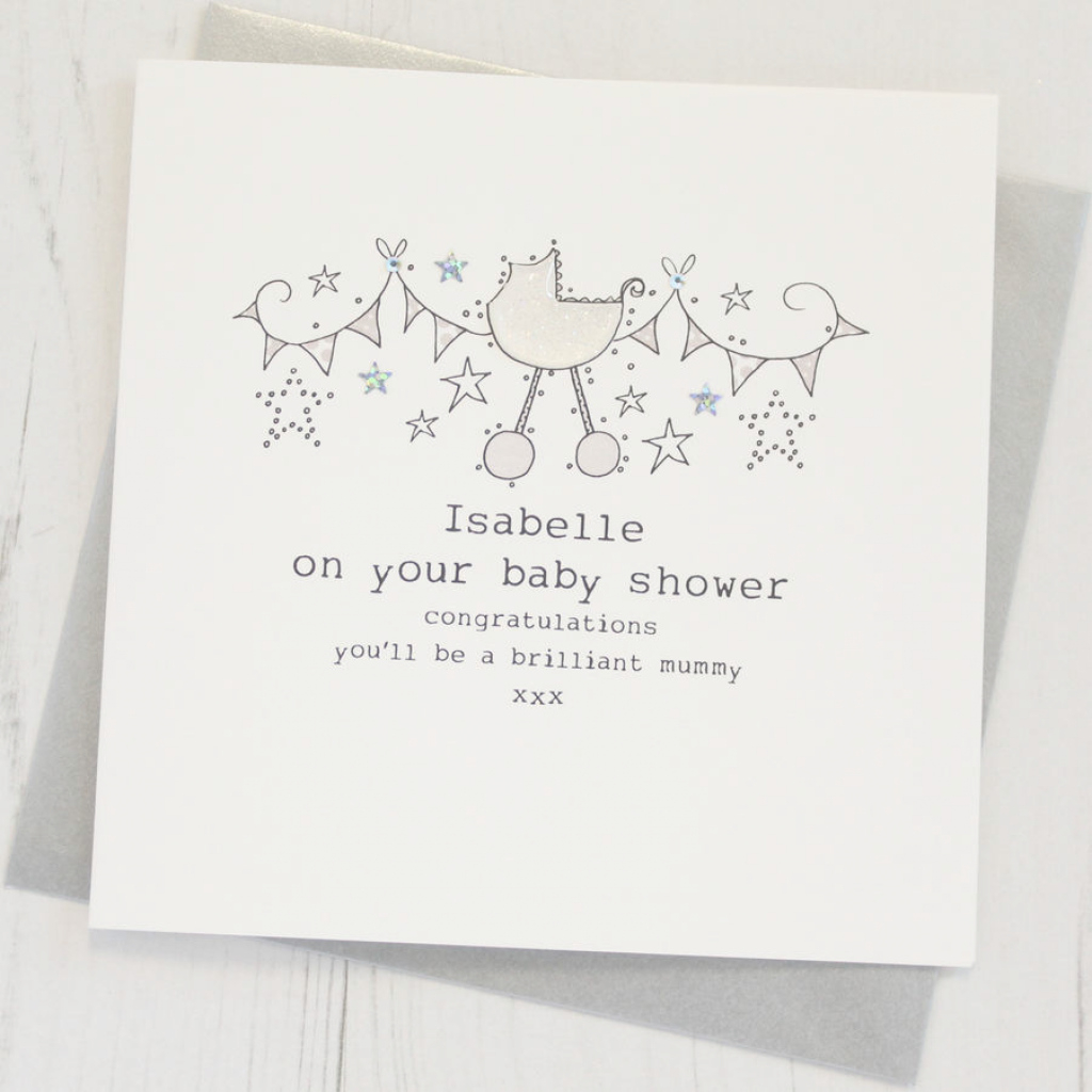 Epic Personalised Baby Shower Cardeggbert & Daisy for Baby Shower Cards