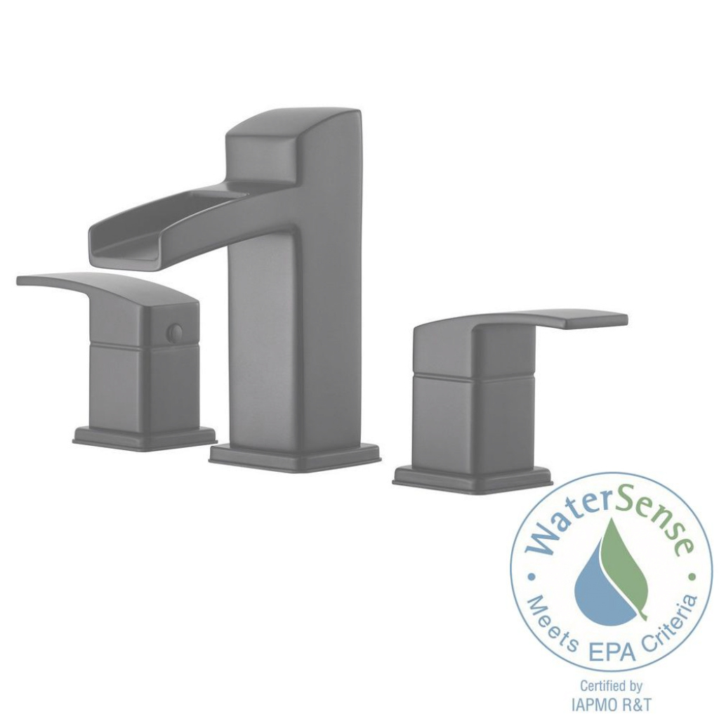 Epic Pfister Kenzo 8 In. Widespread 2-Handle Bathroom Faucet In Matte for Set Black Bathroom Sink Faucet
