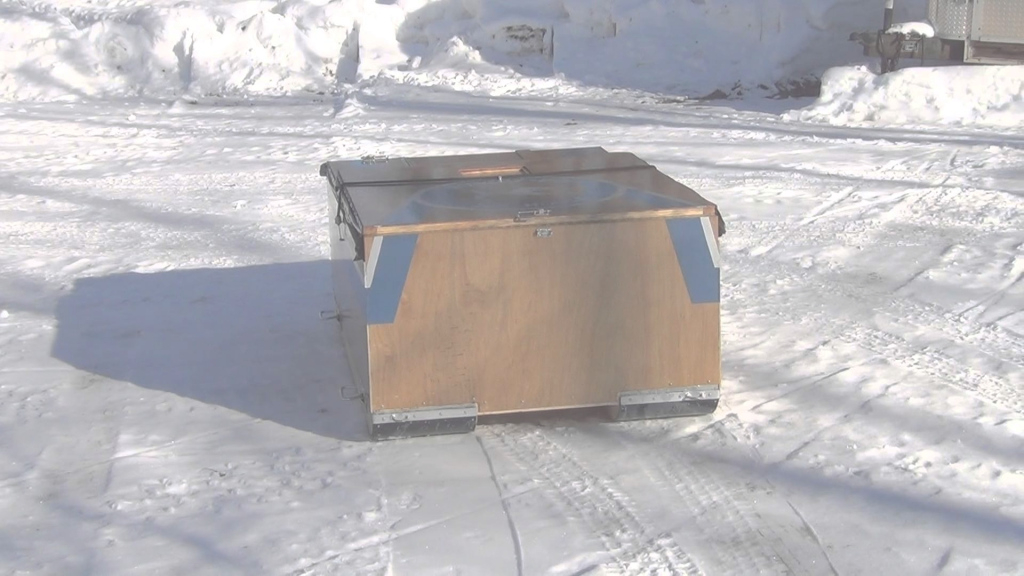 Epic Portable Ice Fishing Shanty - Youtube pertaining to Best of Folding Ice Shanty Plans