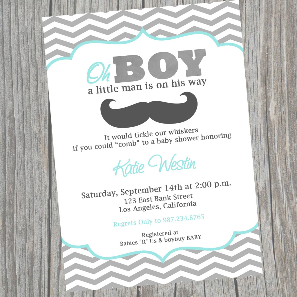 Epic Printable Mustache Baby Shower Invitations Template Little Man throughout Little Man Baby Shower Free Printables
