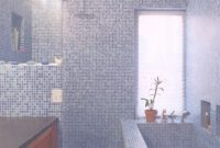 Epic Purple Bathroom Mosaic – Provost Citywide with Blue Bathroom Mosaic Tiles