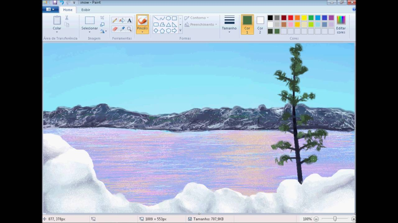 Epic Realistic Landscape Drawing With Microsoft Paint - Youtube within Beautiful Landscape Drawing Software