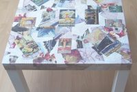 Epic Recycle Coffee Table Decoupaged | Frugalncrafts intended for Review Decoupage Coffee Table