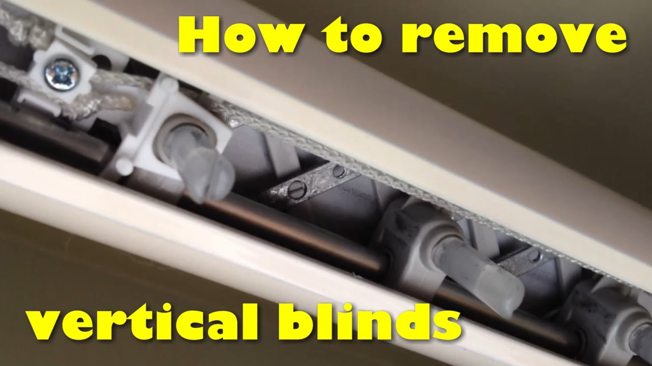 Epic Removing Vertical Blinds From The Track Without Damage - Youtube regarding Set How To Remove Blinds From Window