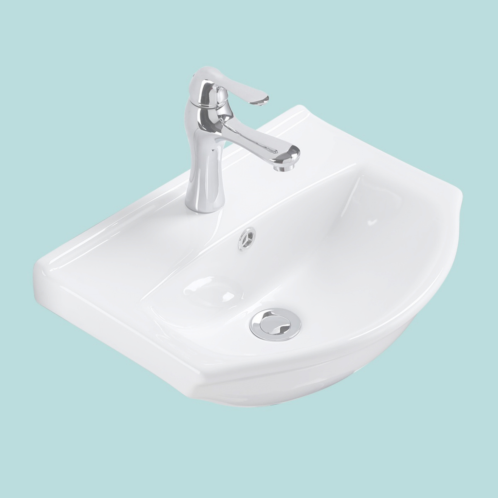 Epic Renovator's Supply Small Wall Mount Bathroom Sink White China Space in Bathroom Sink Small