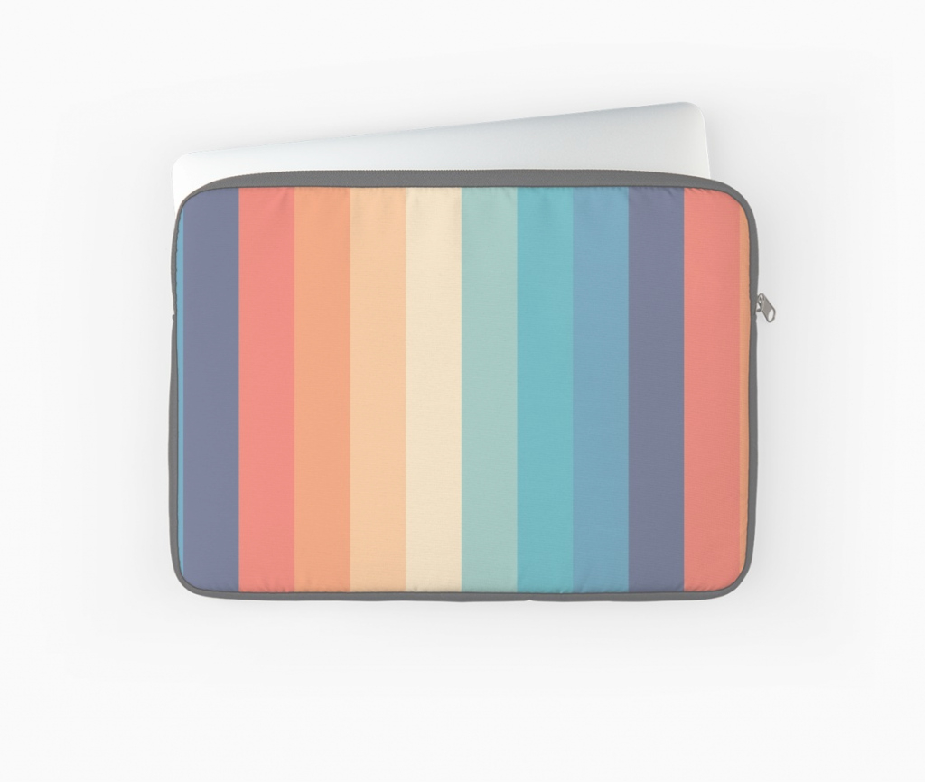 "Epic Retro 70S Color Palette 1"" Laptop Sleevescaprisuncrip 