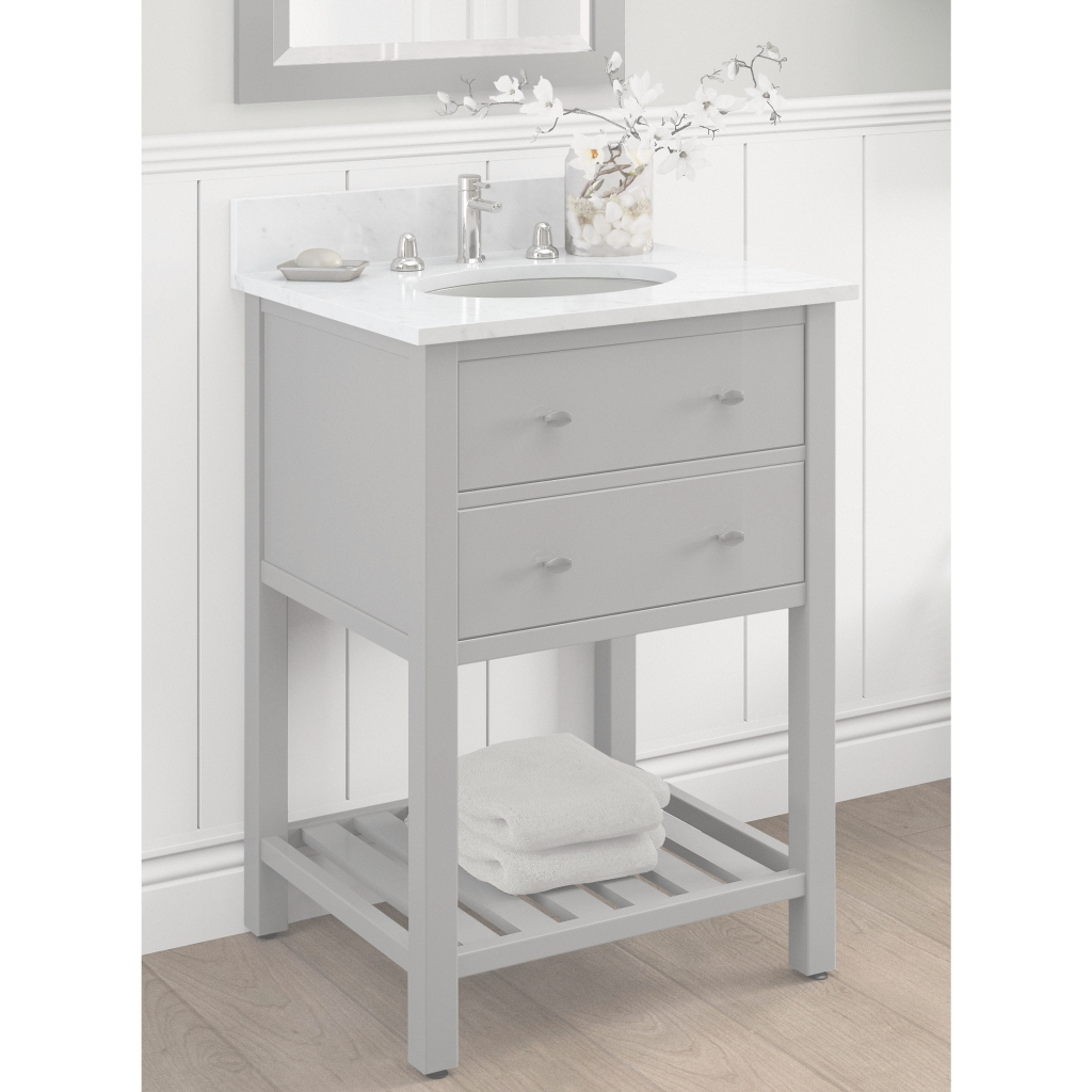Epic Shop Alaterre Harrison 24-Inch Wood Single Sink Bath Vanity - Free regarding Single Sink Bathroom Vanity