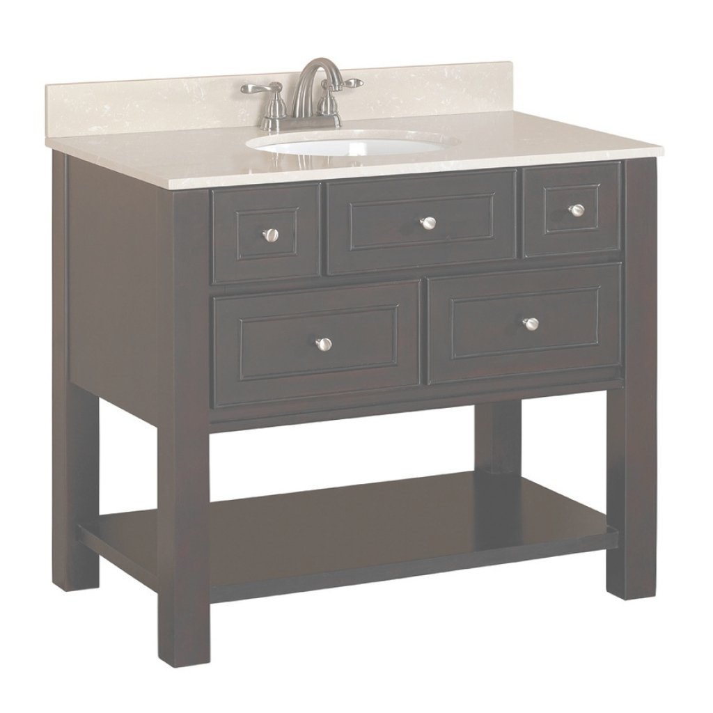 Epic Shop Allen + Roth Hagen Espresso Undermount Single Sink Birch/poplar intended for Allen And Roth Bathroom Vanities