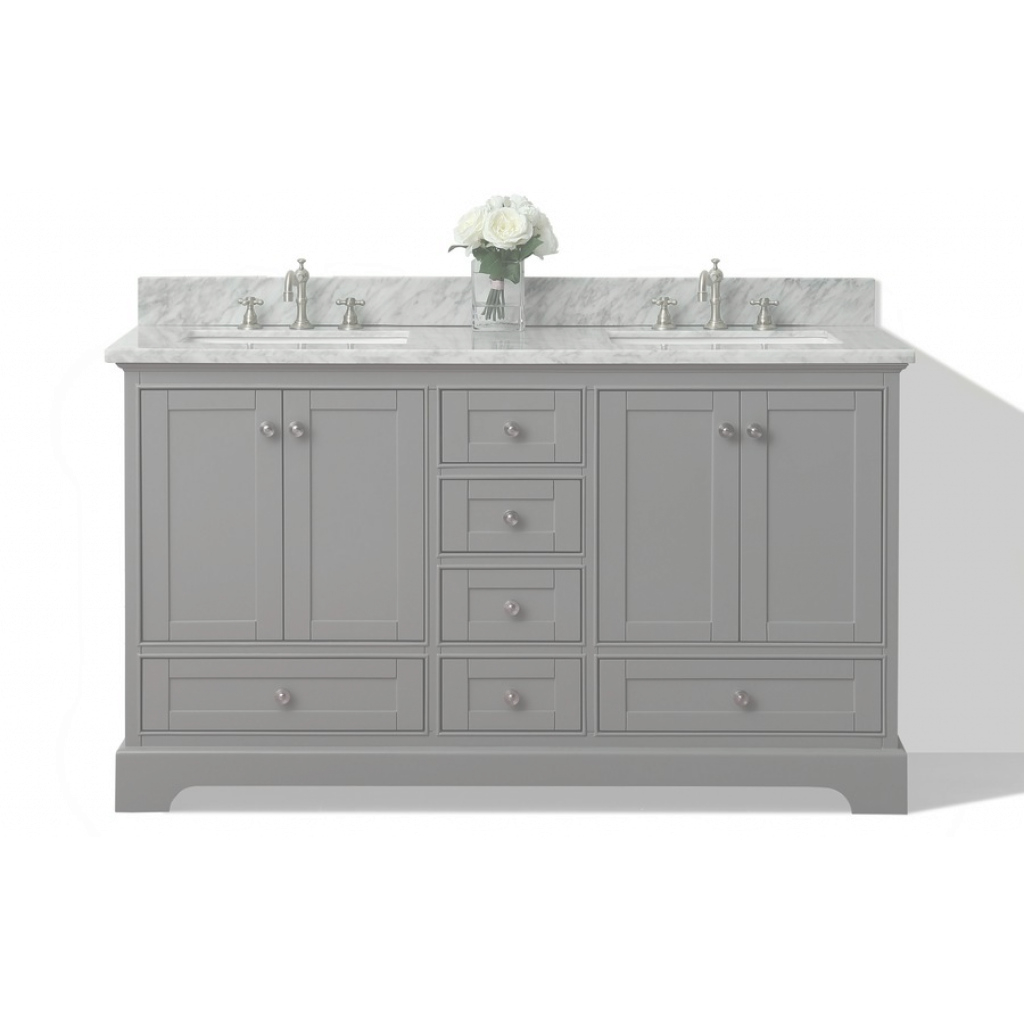 Epic Shop Ancerre Designs Audrey Sapphire Gray Double Sink Vanity With for Fresh Lowes Bathroom Vanities