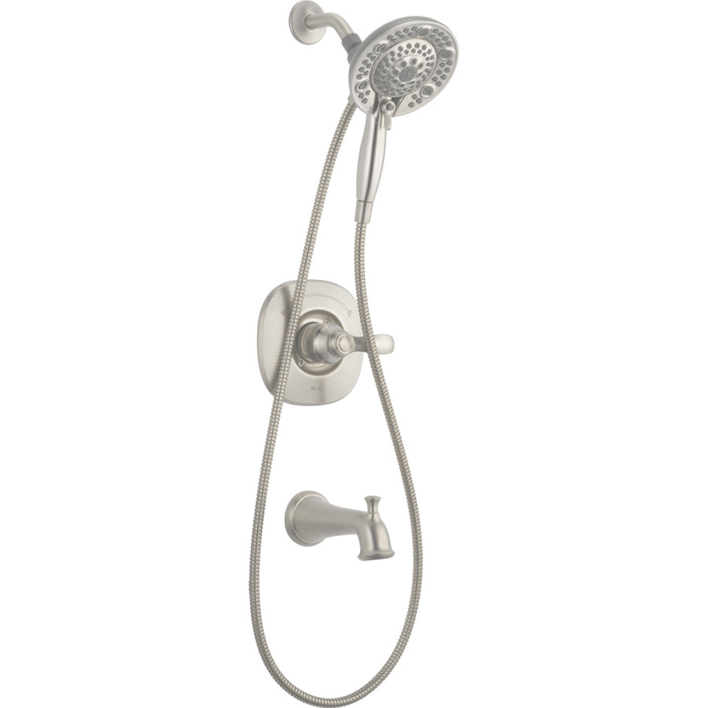 Epic Shop Delta Nura Stainless 1-Handle Bathtub And Shower Faucet With regarding Luxury Delta Bathroom Shower Faucets