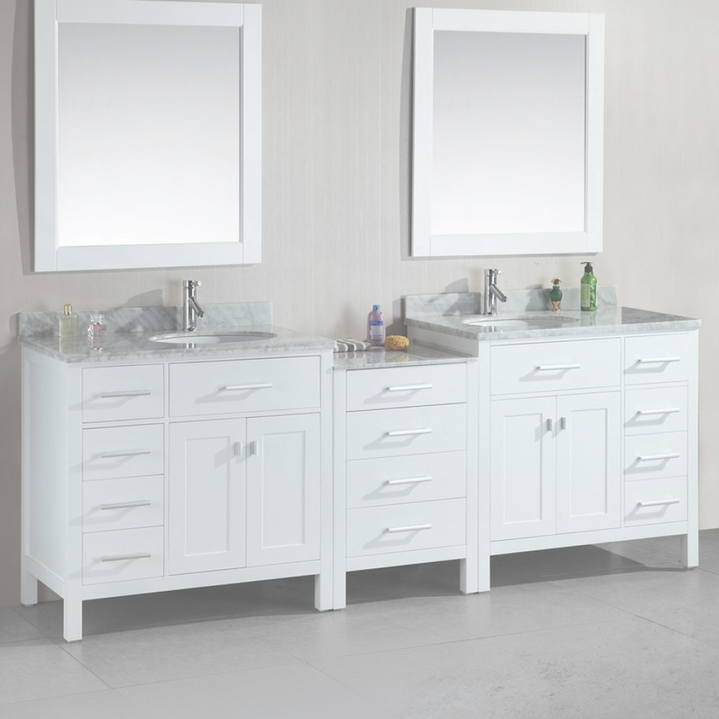Epic Shop Design Element London White Double Sink Vanity With White in New Two Sink Bathroom Vanity