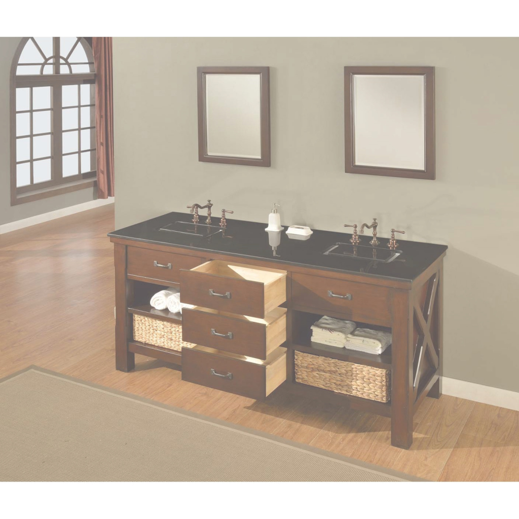 Epic Shop Direct Vanity Sink 70-Inch Espresso Xtraordinary Spa Double throughout New 70 Inch Bathroom Vanity