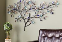 Epic Shop Harper Blvd Willow Multicolor Metal/ Glass Tree Wall Sculpture with Unique Tree Wall Decals For Living Room