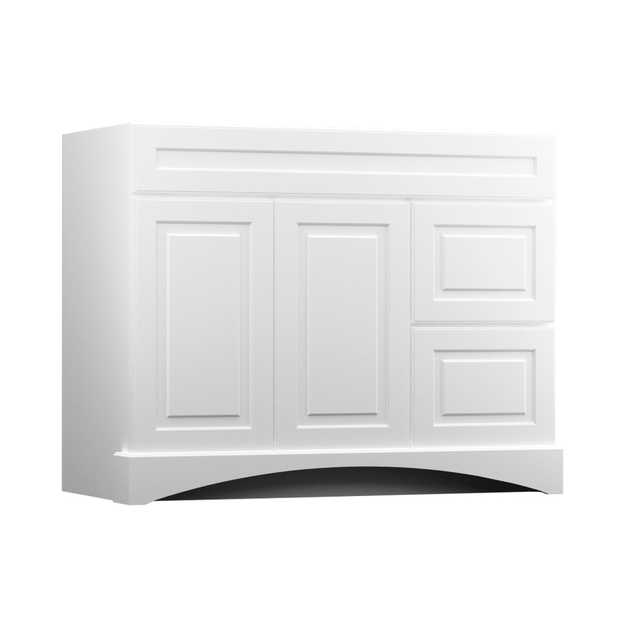 Epic Shop Kraftmaid White Bathroom Vanity (Common: 42-In X 21-In; Actual with regard to Lovely 42 In Bathroom Vanity