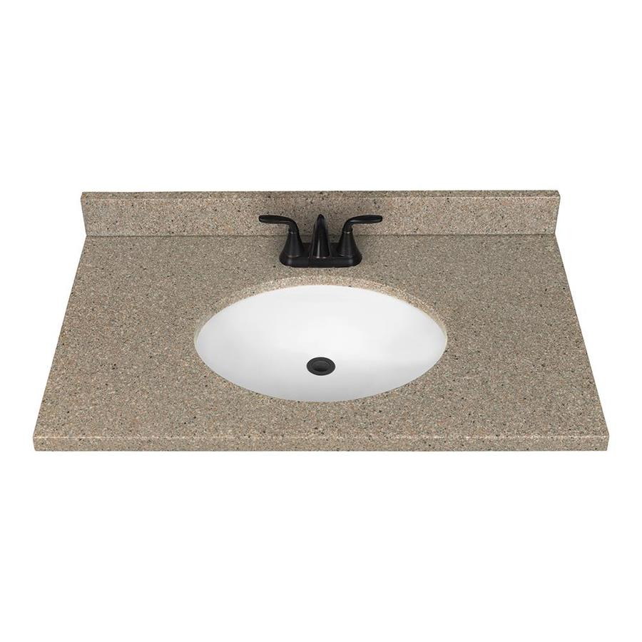 Epic Shop Nutmeg Solid Surface Integral Bathroom Vanity Top (Common: 37 pertaining to Bathroom Vanity With Top