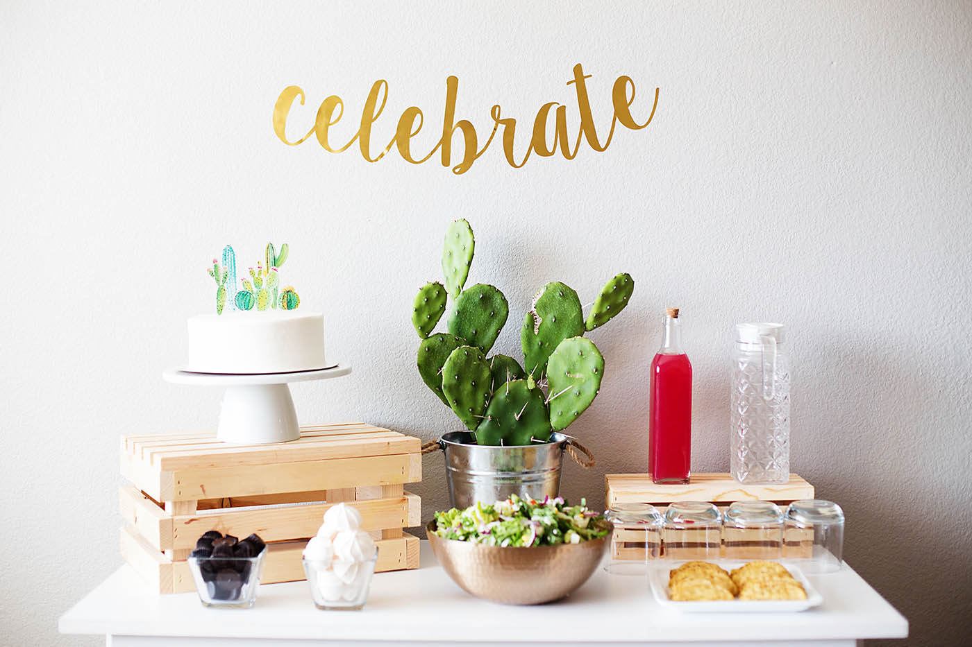 Epic Simple Cactus Themed Baby Shower - All For The Memories intended for Simple Baby Shower