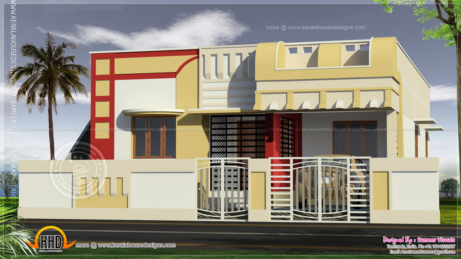Epic Small South Indian Home Design - Kerala Home Design And Floor Plans with Indian Home Elevation Design Photo Gallery