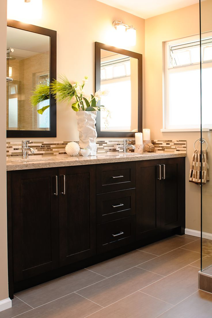 Epic Superior Dark Bathroom Vanity Best 25 Backsplash Ideas On Pinterest inside Dark Bathroom Vanity