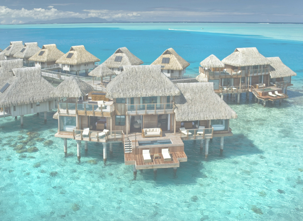 Epic Tahiti's Most Luxurious Overwater Bungalows | Pinterest | Bora Bora with Overwater Bungalows All Inclusive