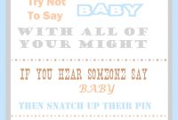 Epic The Clothespin Baby Shower Game with regard to Free Printable Baby Shower