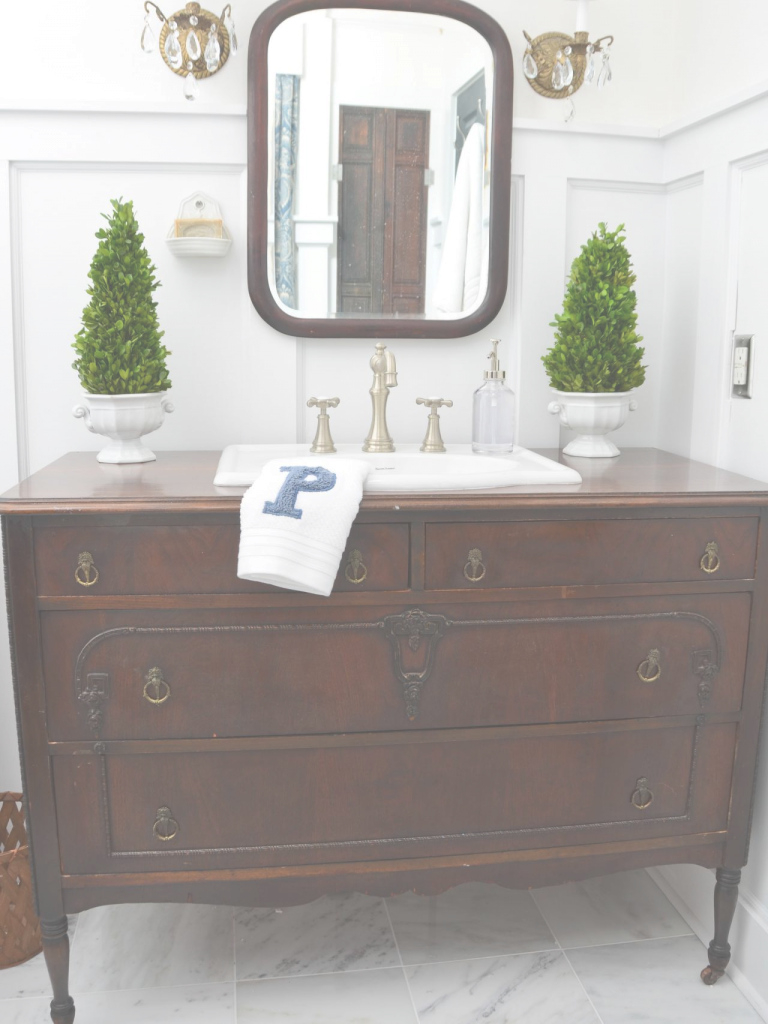 Epic Turn A Vintage Dresser Into A Bathroom Vanity | Hgtv with regard to Fresh Dresser Bathroom Vanity