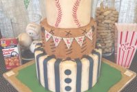 Epic Vintage Baseball Themed Baby Shower Cake On Cake Central | Cake regarding Baseball Baby Shower Cakes