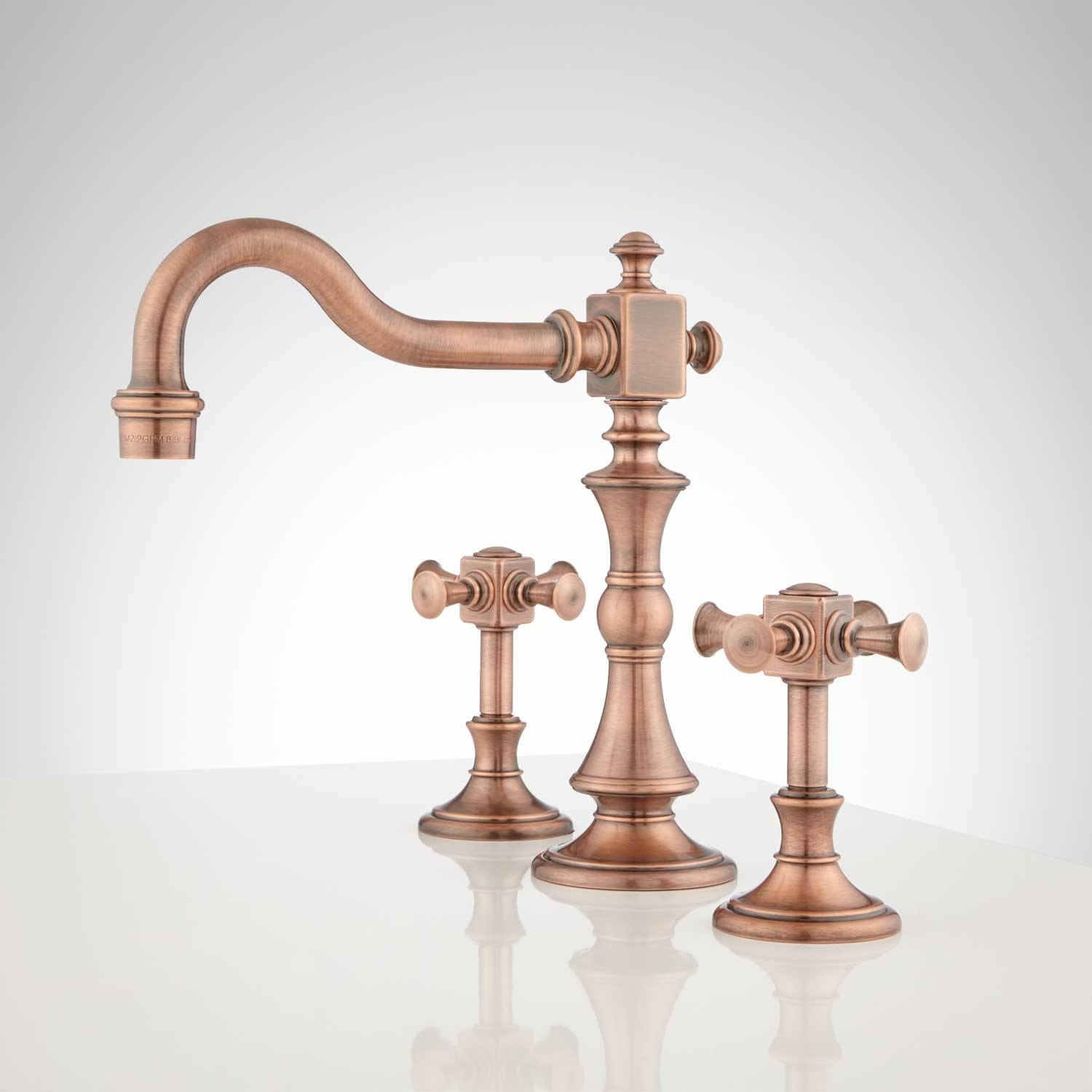 Epic Vintage Widespread Bathroom Faucet - Cross Handles - Bathroom intended for Review Cross Handle Bathroom Faucet