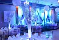 Epic Winter Wonderland Theme Party With Birch Tree Centerpieces Created intended for Luxury Winter Wonderland Party Decor