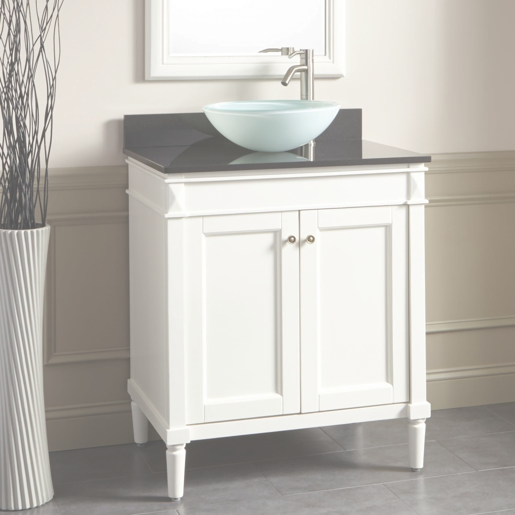 "Fabulous 30"" Chapman Vessel Sink Vanity - White 