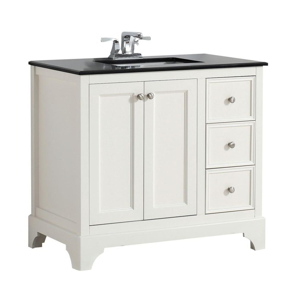 Fabulous 36 Inch White Bathroom Vanity With Granite Top - Vanity Ideas with 36 In Bathroom Vanity With Top
