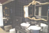 Fabulous 39 Most Wonderful Black And Gold Bathroom Wall Mounted Clear Glass in Gold Bathroom Mirror