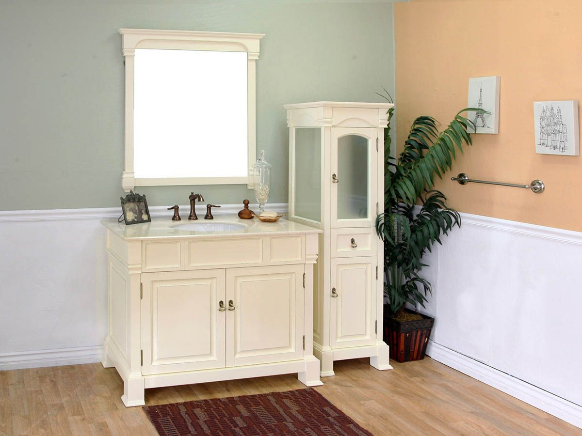 "Fabulous 42"" Helena Single Bath Vanity - Cream pertaining to 42 In Bathroom Vanity"