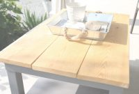 Fabulous $50 Diy Outdoor Coffee Table (Ikea Hack) – The Unique Nest intended for Set Ikea Coffee Table Hack